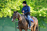 Baltimore, MD- May 17:  Trainer Graham Motion of137th preakness contender Went The Day Well preps for the Preakness at Pimlico Race Course in Baltimore, MD on 05/17/12. (Ryan Lasek/ Eclipse Sportswire)