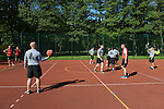 "American and Polish soldiers play each other in basketball during a day off for cultural activities, which included sports games between the different participating armies in the NATO ""Saber Strike"" military exercises, in Drawsko Pomorskie, Poland on June 13, 2015.  NATO is engaged in a multilateral training exercise ""Saber Strike,"" the first time Poland has hosted such war games, involving the militaries of Canada, Denmark, Germany, Poland, and the United States."
