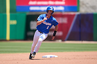 Memphis Tigers Zach Wilson (6) running the bases during a game against the East Carolina Pirates on May 25, 2021 at BayCare Ballpark in Clearwater, Florida.  (Mike Janes/Four Seam Images)