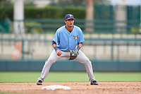 Tampa Bay Rays Carlos Vargas (95) during an Instructional League game against the Baltimore Orioles on October 5, 2017 at Ed Smith Stadium in Sarasota, Florida.  (Mike Janes/Four Seam Images)