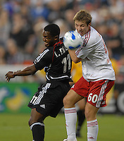 New York Red Bulls defender Jeff Parke (60) heads the ball against DC United forward Luciano Emilio (11). DC United defeated the New York Red Bulls 3-1 at RFK Stadium in Washington DC, Thursday August  22, 2007.