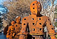 Outdoor sculpture exhibit of Xavier Mascaró, Madrid, Spain