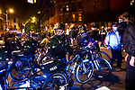 NYPD police officers on bicycles block demonstrators marching during a protest demanding every vote cast be counted in the 2020 presidential election between U.S. President Donald Trump and former Vice President Joe Biden on November 4, 2020 in New York City.  Photograph by Michael Nagle