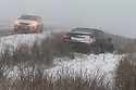 12/01/17<br />  <br /> After heavy snow and freezing conditions grip the area a car slides off the A57 on Snake Pass near Ashop Moor, Glossop in The Derbyshire Peak District. <br /> <br /> All Rights Reserved F Stop Press Ltd. (0)1773 550665   www.fstoppress.com