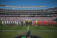San Diego, CA - Sunday January 29, 2017: United States, Serbia prior to an international friendly between the men's national teams of the United States (USA) and Serbia (SRB) at Qualcomm Stadium.