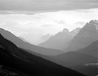 Mountains near Peyto Lake. Banff National Park, Canada.