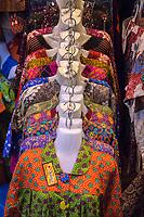 Yogyakarta, Java, Indonesia.  Women's Blouses, Beringharjo Market.