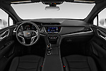 Stock photo of straight dashboard view of 2020 Cadillac XT5 Premium-Luxury 5 Door SUV Dashboard
