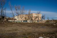 Riviera Adriatica, spiaggia di Bellaria Igea Marina.<br /> Una delle numerose ex colonie abbandonate da anni.