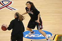 6 April 2008: Stanford Cardinal Morgan Clyburn during Stanford's 82-73 win against the Connecticut Huskies in the 2008 NCAA Division I Women's Basketball Final Four semifinal game at the St. Pete Times Forum Arena in Tampa Bay, FL.