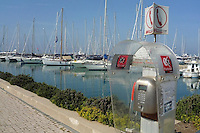 - public telephone in the tourist harbor of Ostia....- telefono pubblico nel porto turistico di Ostia