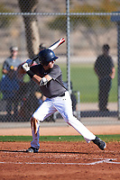 Kolbie Blakely (45), from Plainville, Massachusetts, while playing for the Giants during the Under Armour Baseball Factory Recruiting Classic at Red Mountain Baseball Complex on December 29, 2017 in Mesa, Arizona. (Zachary Lucy/Four Seam Images)