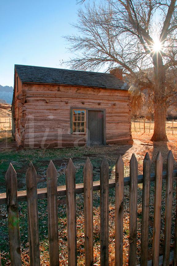 Abandoned school house (circ 1886), Grafton (ghost town), Rockville, Washington County, U