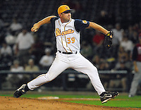 Dale Thayer of the Montgomery Biscuits pitches in the 2007 Southern League All-Star Game July 9, 2007, at Trustmark Park in Pearl, Miss. Photo by:  Tom Priddy/Four Seam Images