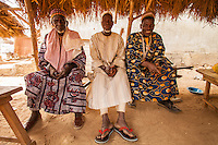 Africa. Togo, old men at the market