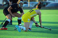 Action from the Wellington premier one women's hockey match between Karori and Northern United at National Hockey Stadium in Wellington, New Zealand on Saturday, 15 May 2021. Photo: Dave Lintott / lintottphoto.co.nz
