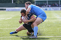 Api Pewhairangi of London Broncos scores his first try of the game to make the score 24-10 during the Kingstone Press Championship match between London Broncos and Sheffield Eagles at Castle Bar , West Ealing , England  on 9 July 2017. Photo by David Horn.