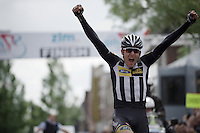 a very happy Matt Brammeier (IRL/MTN-Qhubeka) wins solo<br /> <br /> stage 5: Eindhoven - Boxtel (183km)<br /> 29th Ster ZLM Tour 2015