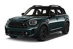 2021 MINI Countryman SE-PHEV 5 Door SUV Angular Front automotive stock photos of front three quarter view