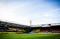 7th November 2020; Vicarage Road, Watford, Hertfordshire, England; English Football League Championship Football, Watford versus Coventry City; The last post is played pre-game