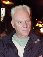 Montreal, August 27, 2000<br /> British actor Malcolm McDowell attends the World Premiere of the horror movie `` Island of the Dead`` directed by Canadian Tim Graham in which he has a major role on Augyst 27, 2000 in Montreal, Canada<br /> He is best know for his role in Stanley Kubrick's `` Clockwork Orange ``<br /> Photo by Pierre Roussel / Newsmakers