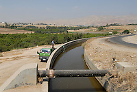 JORDAN, water shortage and agriculture in the Jordan valley , use of sewage water for irrigation of farms / JORDANIEN Wassermangel und Landwirtschaft im Jordan Tal, Nutzung von Abwasser zur Bewaesserung
