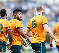 5th September 2021; Optus Stadium, Perth, Australia: Bledisloe Cup international rugby, Australia versus New Zealand; Folau Fainga'a of the Wallabies after scoring a try