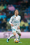 Luka Modric of Real Madrid in action during the La Liga 2017-18 match between Real Madrid and Villarreal CF at Santiago Bernabeu Stadium on January 13 2018 in Madrid, Spain. Photo by Diego Gonzalez / Power Sport Images