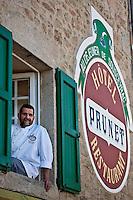Europe/Europe/France/Midi-Pyrénées/46/Lot/Sousceyrac: Restaurant: Le déjeuner de Sousceyrac, Hôtel Prunet- Patrick Lagnès, [Non destiné à un usage publicitaire - Not intended for an advertising use]