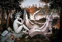 "Liberty:  Miss Liberty in Manet's  ""Picnic on the Grass""  in Central Park."