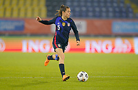 BREDA, NETHERLANDS - NOVEMBER 27: Kelley O'Hara #5 of the United States moves to the ball during a game between Netherlands and USWNT at Rat Verlegh Stadion on November 27, 2020 in Breda, Netherlands.