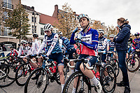 Audrey Cordon-Ragot (FRA/Trek-Segafredo) at the race start<br /> <br /> AG Driedaagse Brugge-De Panne 2020 (1.WWT)<br /> 1 day race from Brugge to De Panne (156km) <br /> <br /> ©kramon