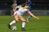 OHL's Luna Vanzeir (10) pictured during a female soccer game between  AA Gent Ladies and Oud Heverlee Leuven on the 9th matchday of the 2020 - 2021 season of Belgian Scooore Womens Super League , friday 11 th of December 2020  in Oostakker , Belgium . PHOTO SPORTPIX.BE | SPP | DIRK VUYLSTEKE