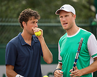 Paris, France, 30 May, 2017, Tennis, French Open, Roland Garros, Man's doubles Robin Haase (NED) / Dominic Inglot (GBR) (R)<br /> Photo: Henk Koster/tennisimages.com
