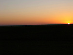 Sunset on the edge of the Sahara Desert near Mhamid in Morocco.
