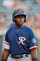 Taylor Trammell (10) of the Tacoma Rainiers waits to bat against the Salt Lake Bees at Smith's Ballpark on May 13, 2021 in Salt Lake City, Utah. The Rainiers defeated the Bees 15-5. (Stephen Smith/Four Seam Images)