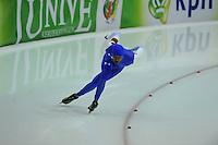 SCHAATSEN: HEERENVEEN: 13-12-2014, IJsstadion Thialf, ISU World Cup Speedskating, Shani Davis (USA), ©foto Martin de Jong