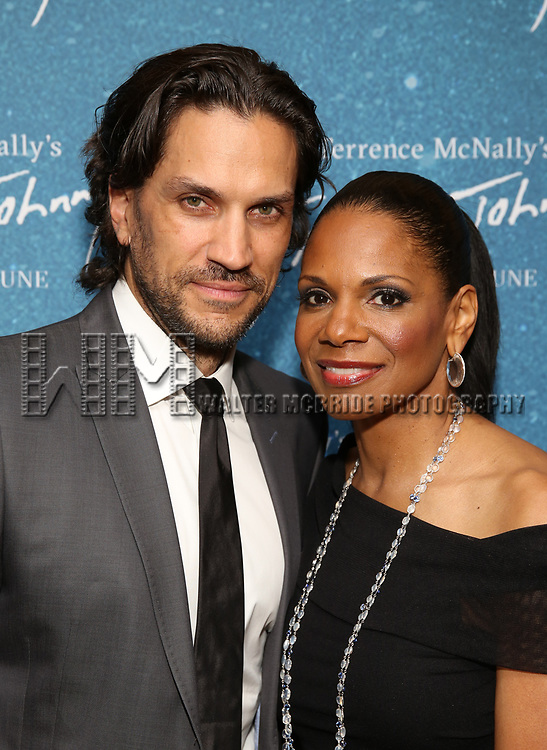 """Will Swenson and Audra McDonald during the Opening Night After Party for """"Frankie and Johnny in the Clair de Lune"""" at the Brasserie 8 1/2 on May 29, 2019  in New York City."""