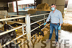 Dermot O'Brien, Chairman of the Beef Plan Movement at the farm of Donny Ryan in Milltown on Thursday.