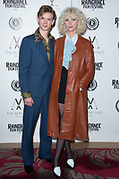 """Thomas Brodie-Sangster and Gzi Wisdom<br /> arriving for the """"Stardust"""" premiere part of the Raindance Film Festival 2020, at the Mayfair Hotel, London.<br /> <br /> ©Ash Knotek  D3563 28/10/2020"""