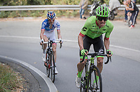 Rigoberto Uran (COL/Cannondale-Drapac) forcing the winning move and dropping Rudy Molard (FRA/FDJ) on his way to victory at 4km from the finish<br /> <br /> 98th Milano - Torino 2017 (ITA) 186km