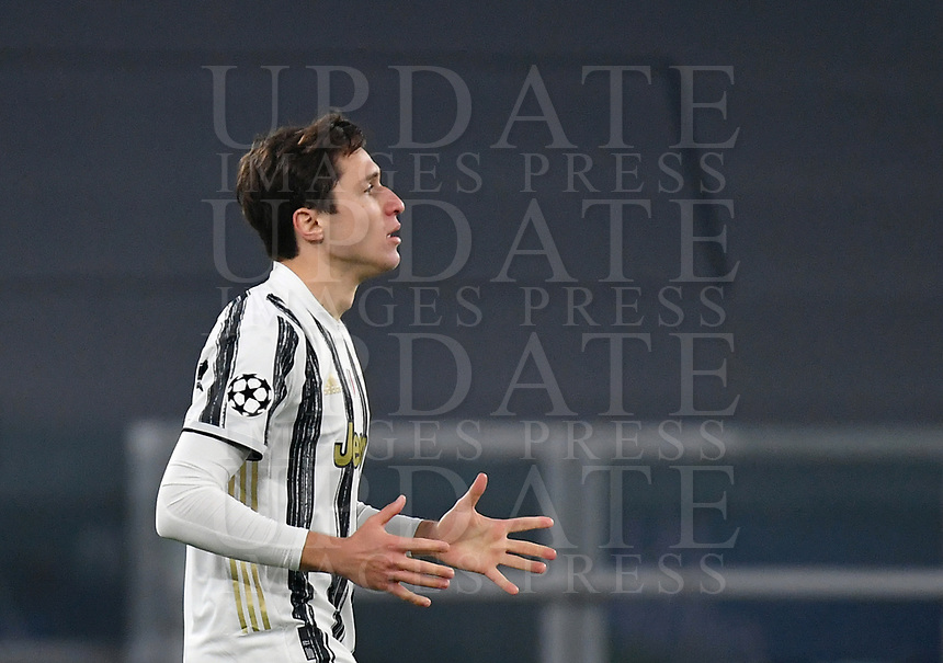 Football Soccer: UEFA Champions League -Round of 16 2nd leg Juventus vs FC Porto, Allianz Stadium. Turin, Italy, March 9, 2021.<br /> Juventus' Federico Chiesa celebrates after scoring during the Uefa Champions League football soccer match between Juventus and Porto at Allianz Stadium in Turin, on March 9, 2021.<br /> UPDATE IMAGES PRESS/Isabella Bonotto