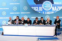 IL DIRETTIVO FRA CUI: DENIS VERDINI, SILVIO BERLUSCONI, IGNAZIO LA RUSSA, MAURIZIO LUPI E SANDRO BONDI.Roma 01/07/2011 Consiglio Nazionale del PDL..Photo Samantha Zucchi Insidefoto