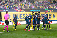29th April 2021; Ceramica Stadium, Villareal, Spain; EUropa League semi-final football, Villareal CF versus Arsenal;  Nicolas Pepe of Arsenal FC celebrates his penalty kick goal during the UEFA Europa League match for 2-1
