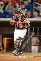 Quad Cities River Bandits catcher Roberto Pena #10 during a game against the Wisconsin Timber Rattlers on May 24, 2013 at Modern Woodmen Park in Davenport, Iowa.  Quad Cities defeated Wisconsin 4-3  (Mike Janes/Four Seam Images)