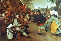 Paintings:  Pieter I. Bruegel--Peasant's Dance, c. 1567.  Kunsthistorisches Museum, Wien.  Reference only.