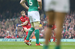 Leigh Halfpenny gets the first points on the board with a penalty kick.<br /> RBS 6 Nations<br /> Wales v Ireland<br /> Millennium Stadium<br /> 14.03.15<br /> ©Steve Pope - SPORTINGWALES