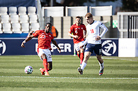 25th March 2021; Stadium Bonifika, Obalno-kraska Slovenia;   U-21 European Championships, England versus Switzerland, Group stages;   Jordan Lotomba of Switzerland  beaten by the pass from Emile Smith Rowe of England