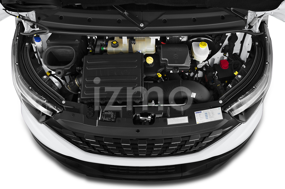Car Stock 2021 Iveco Daily - 4 Door Cargo Van Engine  high angle detail view