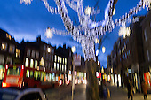 Impressionism with a camera: Christmas lights in Hampstead High Street.